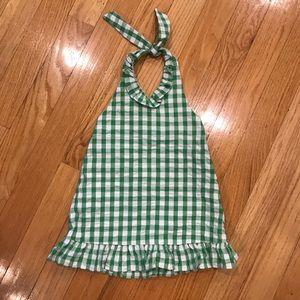 Kelly's Kids size 3-4 GUC Kelly green halter dress